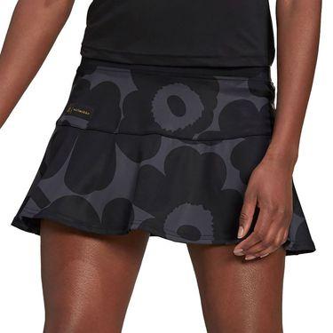 adidas Marimekko Tennis Match Skirt Womens Carbon/Black/Gold Metallic GT6001