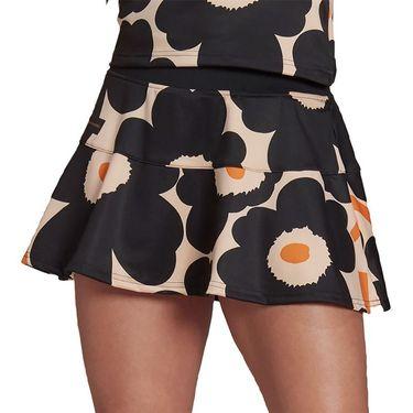 adidas Marimekko Tennis Match Skirt Womens Halo Blush/Black/Gold Metallic GT6002