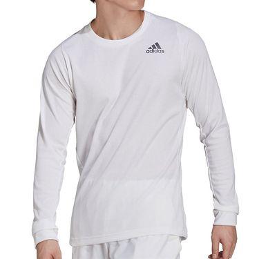 adidas Tennis Freelift Long Sleeve Shirt Mens White/Black GT7845