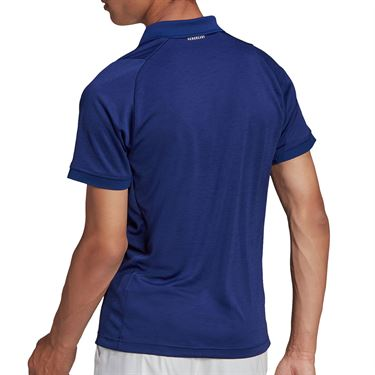 adidas Tennis Freelift Polo Shirt Mens Victory Blue/White GT7847