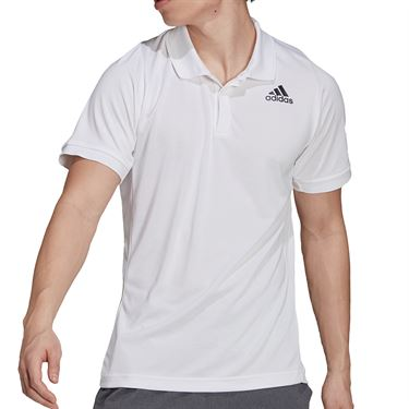 adidas Tennis Freelift Polo Shirt Mens White/Black GT7849