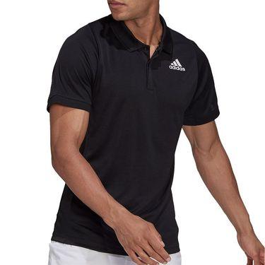 adidas Tennis Freelift Polo Shirt Mens Black/White GT7850