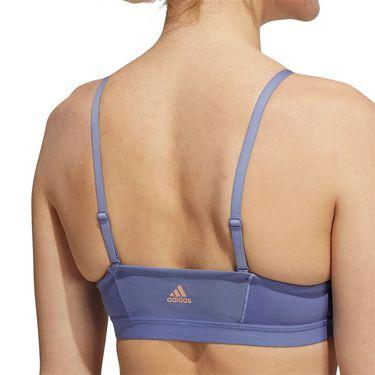 adidas All Me 3-Stripes Bra Womens Orbit Violet/Black GU7060