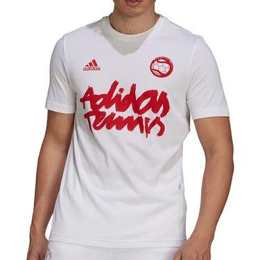adidas Tennis Graphic Logo Tee Shirt Mens White GU8857