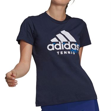 adidas Tennis Graphic Logo Tee Shirt Womens Legend Ink GU8861