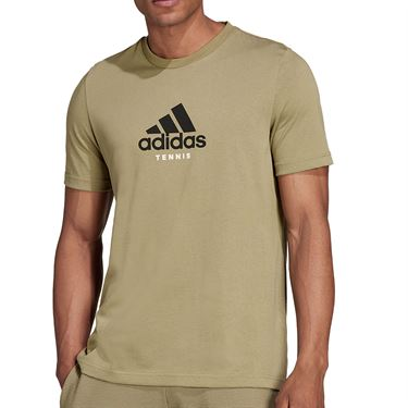 adidas NYC Tennis Graphic Logo Tee Shirt Mens Orbit Green GU8862