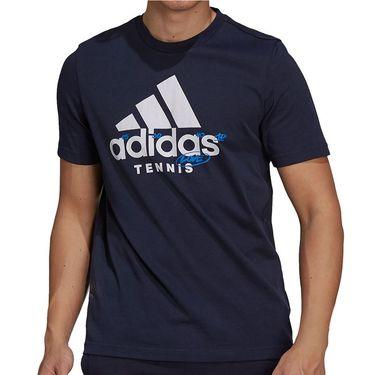 adidas Tennis Graphic Logo Tee Shirt Mens Legend Ink GU8865
