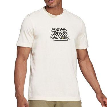adidas NYC Tennis Graphic Logo Tee Shirt Mens WonderWhite GU8870
