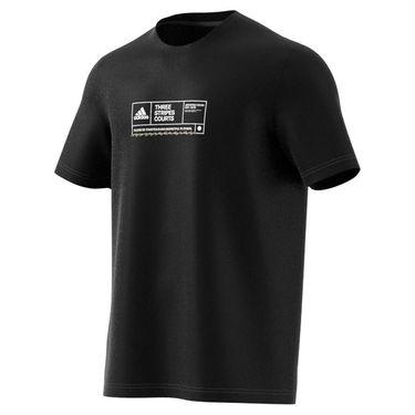 adidas NYC Tennis Graphic Logo Tee Shirt Mens Black GU8872