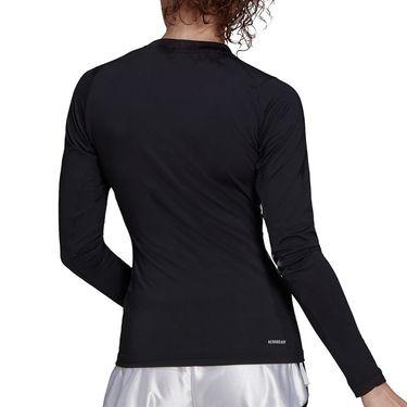 adidas Tennis Freelift Long Sleeve Top Womens Black/White GV1515