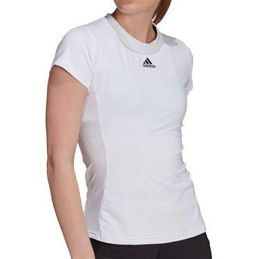 adidas Tennis Match Tee Shirt Aeroready Womens White/Black GV1519