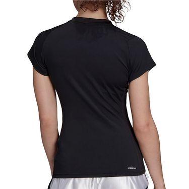 adidas Tennis Match Tee Shirt Aeroready Womens Black/White GV1520