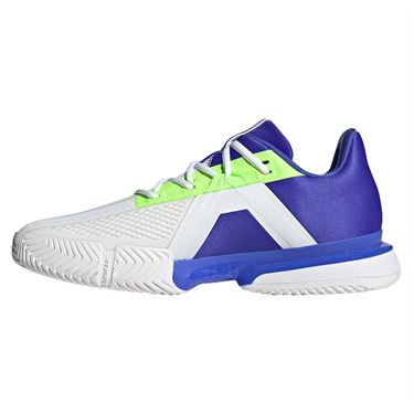 adidas Sole Match Bounce Mens Tennis Shoe Sonic Ink/Screaming Green/Signal Green GY7644