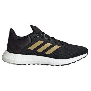 adidas Pureboost 21 Womens Running Shoe Core Black/Gold/Grey Six GZ3004