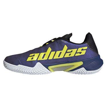 adidas Barricade Mens Tennis Shoe Black Blue Metallic/Acid Yellow/Victory Blue GZ8482