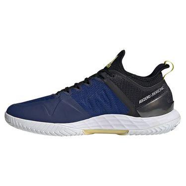 adidas Adizero Ubersonic 4 Mens Tennis Shoe Core Black/Acid Yellow/Victory Blue GZ8505
