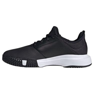 adidas Game Court Mens Tennis Shoe Core Black/Matte Silver/White GZ8515