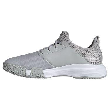 adidas Game Court Mens Tennis Shoe Grey Two/White/Silver Metallic GZ8516