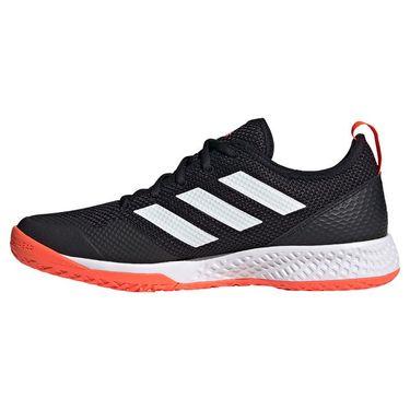 adidas Court Control Mens Tennis Shoe Core Black/White/Solar Red H00940