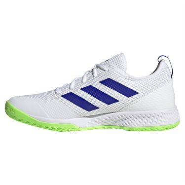 adidas Court Control Mens Tennis Shoe White/Core Black/Signal Green H00941