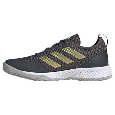 adidas Court Control Womens Tennis Shoe Grey Six/Gold Metallic/White H00943