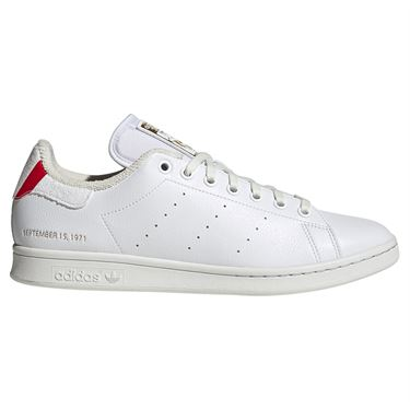 adidas Stan Smith Mens Tennis Shoe White/Blue/Scarlet H03223