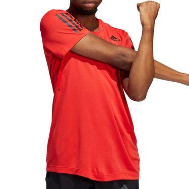 adidas Warrior Heat Ready Tee Shirt Mens Vivid Red H11108