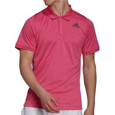 adidas Tennis Freelift Polo Shirt Mens Pink/Black H13701