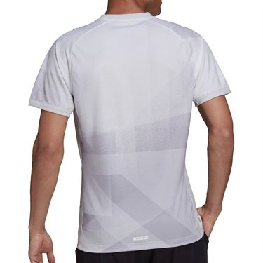 adidas Freelift Tokyo Tee Shirt Primeblue Mens White/Dash Grey/Black H18183
