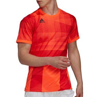 adidas Freelift Tokyo Tee Shirt Primeblue Mens Solar Red/Black H18184