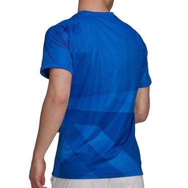 adidas Freelift Tokyo Tee Shirt Primeblue Mens Glory Blue/White H18185