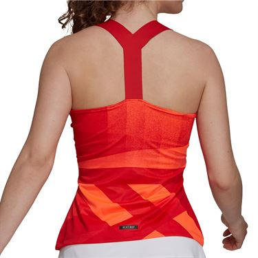 adidas Tennis Tokyo Y Tank Primeblue Womens Solar Red/Black H20355