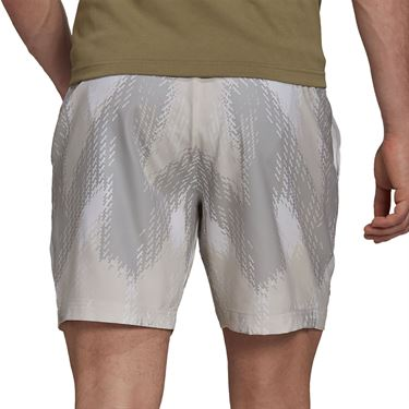 adidas Printed 7 inch Primeblue Short Mens White/Grey One H31377