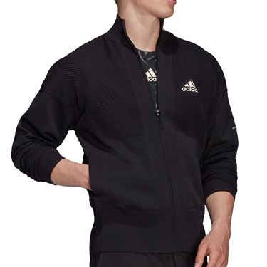 adidas Tennis Primeknit Jacket Mens Black H31381