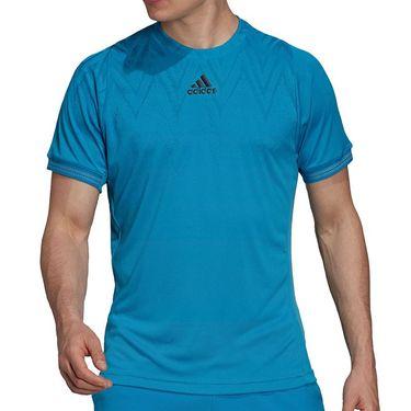 adidas Tennis Freelift Primeblue Tee Shirt Mens Sonic Aqua H31410