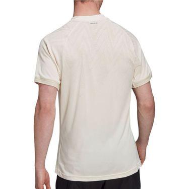 adidas Tennis Freelift Primeblue Tee Shirt Mens Wonder White H31412