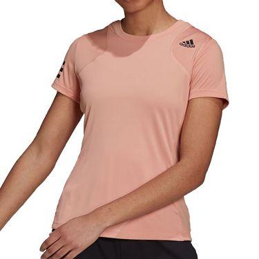 adidas Club Tennis Tee Shirt Womens Ambient Blush/Black H33703