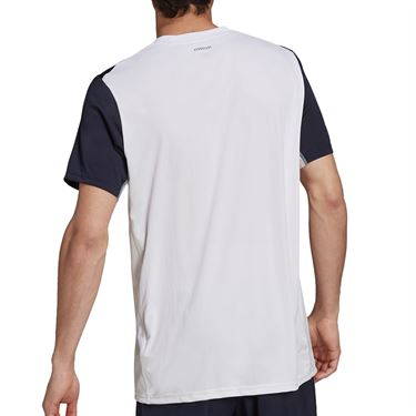 adidas Club Tennis Tee Shirt Mens White/Legend Ink H33733