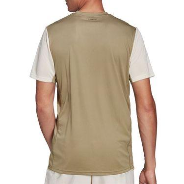 adidas Club Tennis Tee Shirt Mens Orbit Green/Wonder White H33735
