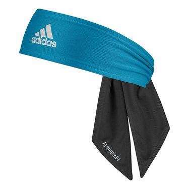 adidas Tennis Reversible Tieband - Black/White/Sonic Aqua
