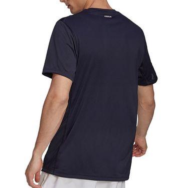 adidas Club 3 Stripe Tennis Tee Shirt Mens Legend Ink/White H34691