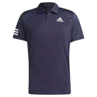 adidas Club 3 Stripe Tennis Polo Shirt Mens Legend Ink/White H34701