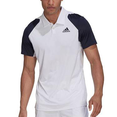 adidas Club Tennis Polo Shirt Mens White/Legend Ink H34705