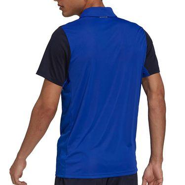 adidas Club Tennis Polo Shirt Mens Bold Blue/Legend Ink/White H34706