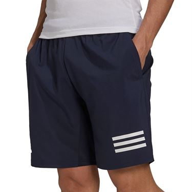 adidas Club 3 Stripe Tennis Short Mens Legend Ink/White H34711