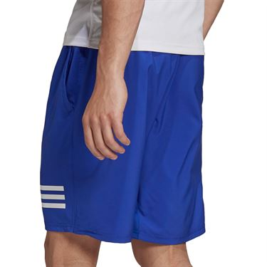 adidas Club 3 Stripe Tennis Short Mens Bold Blue/White H34712