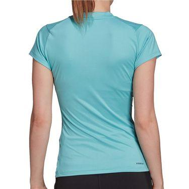adidas Tennis Match Tee Shirt Aeroready Womens Mint Tone/Black H38843