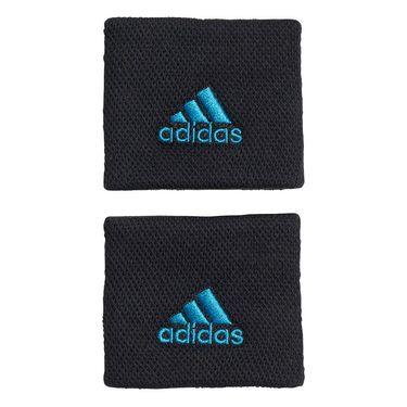 adidas Small Tennis Wristband - Black/Sonic Aqua