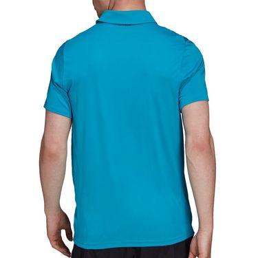 adidas Club Tennis Polo Shirt Mens Sonic Aqua/Black H45413