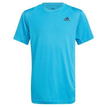 adidas Boys Club Tennis Tee Shirt Sonic Aqua/Black H45414